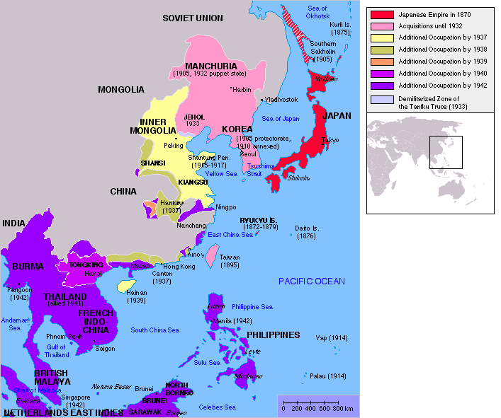 Japanese Occupation of China in the end of WW2
