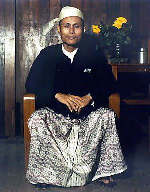 President of the Anti-Fascist People's Freedom League, Aung San
