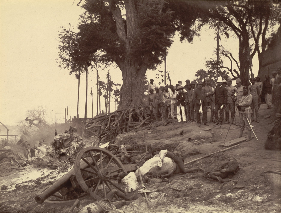 Burmese and English forces fought in a series of three wars