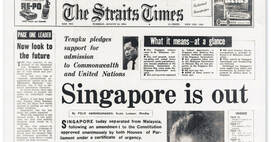 Lee Kuan Yew lead the initiative for Singapore's independence from Malaysia