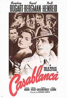 World War II Movies With Academy Award and/or Golden Globe Awards: Casablanca