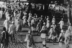 On May 12, 1930, Gandhi began his defiant march to the Arabian sea to protest the British Crown's monopolization of salt.