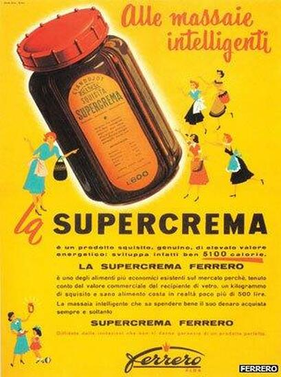 "He then renamed the product ""SuperCrema"". This was the predecessor of Nutella."