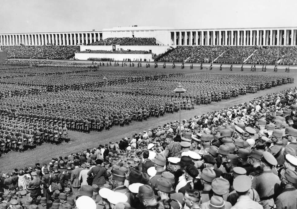The Nuremberg Rally were held annual rally by the Nazi Party in Germany, from 1923 to 1938