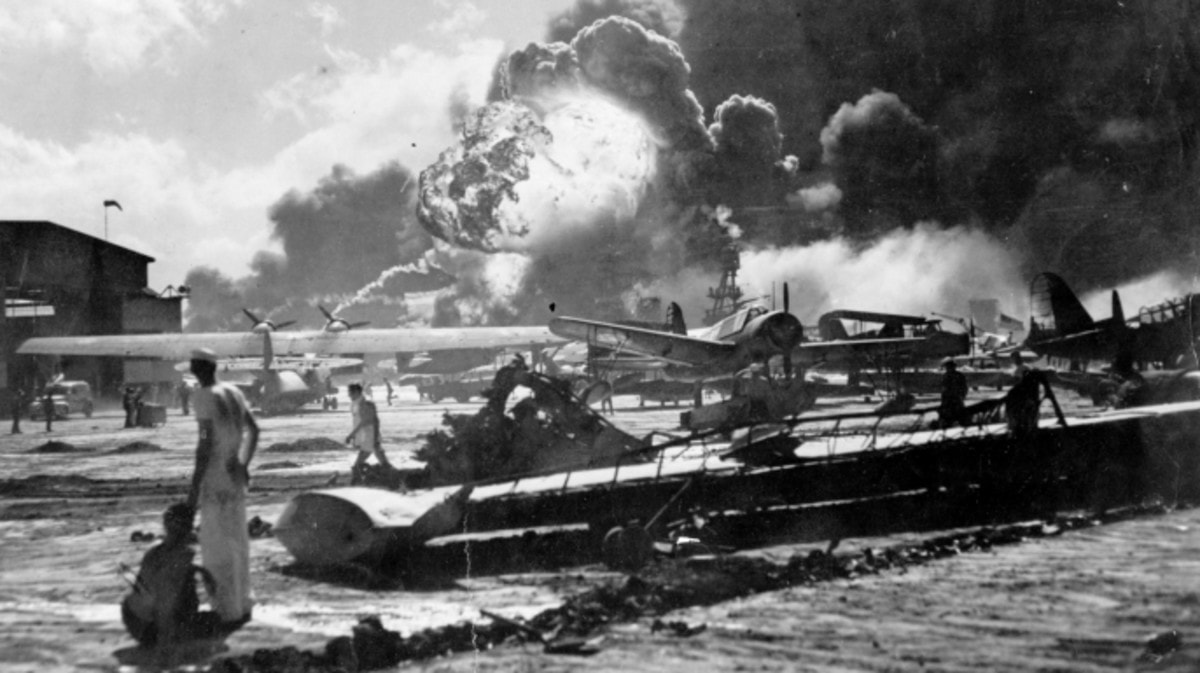 Pearl Harbor the morning of the attack