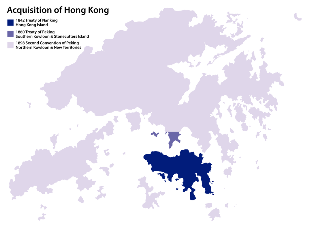 Map of the acquisition of Hong Kong
