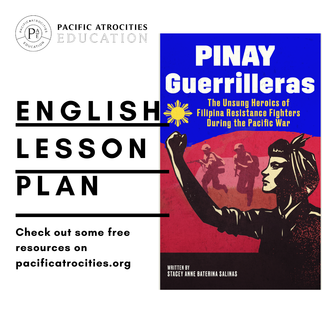 Pacific Atrocities Education Lesson Plan cover for Pinay Geurrilleras