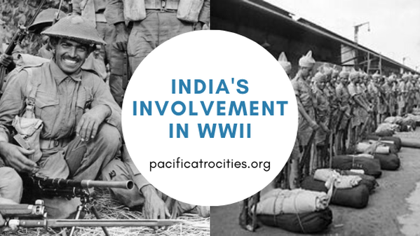 Header graphic featuring photo of Indian infantrymen and text reading