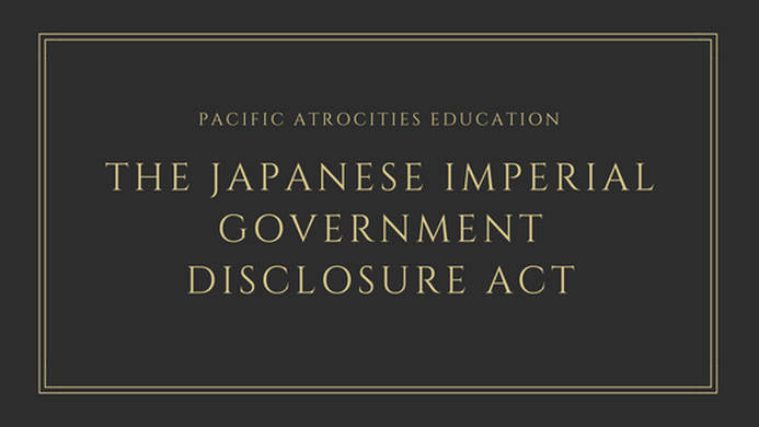 Japanese imperial government disclosure act
