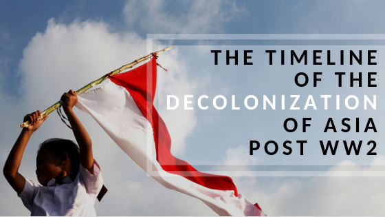 The timeline of the decolonization of asia post world war 2